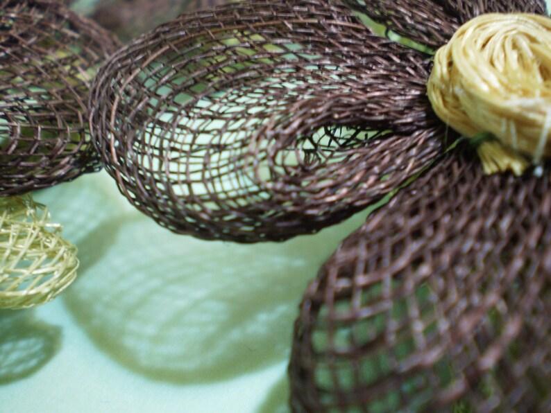 Vintage Straw Woven Handmade Napkin Rings