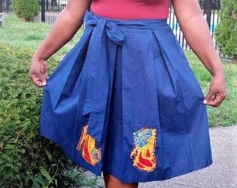 African Skirt with a Bow