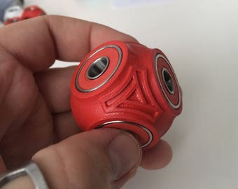Fidget Cube Ball - Hand Spinner - Red