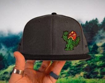 Lucha Libre Cactus wrestler - Embroidered Streetwear Snapback