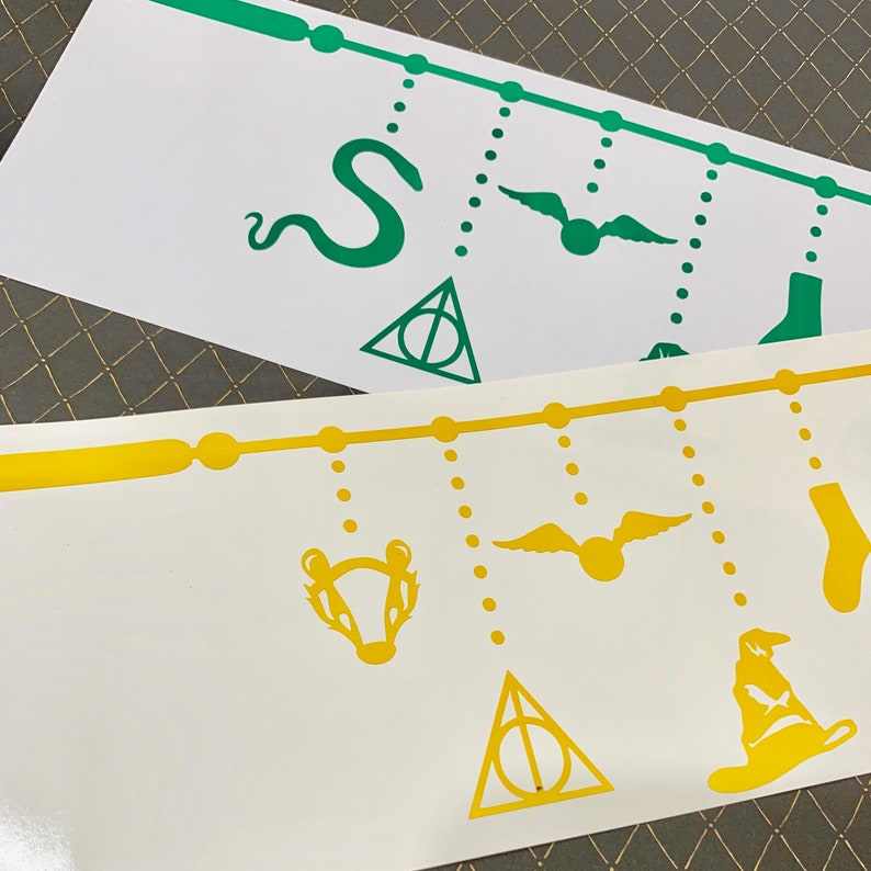Harry Potter Hogwarts House Mascot inspired decal | Etsy