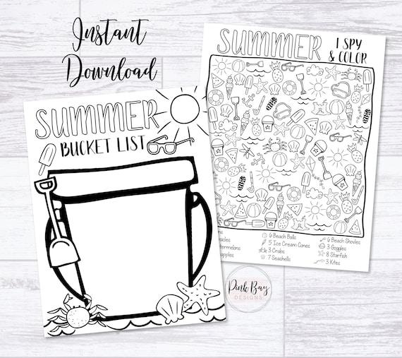 Kids Summer Printable Summer Bucket List Summer Activities