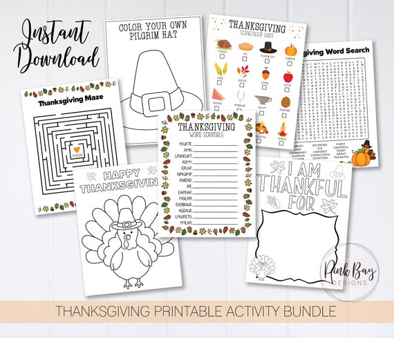 Thanksgiving Kids Activity Sheets Activity Sheet For Kids
