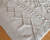 Aran blanket, throw, afghan