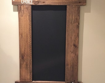 Rustic Kitchen Menu Chalkboard