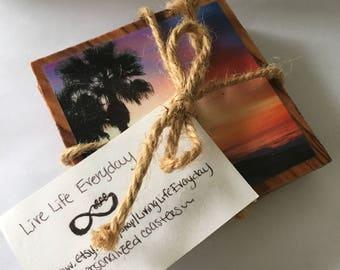 Personalized Photo Coasters- Sunrise & Sunset