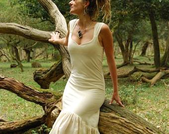 Rustic wedding dress, Fairy bridal clothing, Cream dresses, Goddess clothes, Organic wear for women, Earthy style, Boho fashion Natural chic
