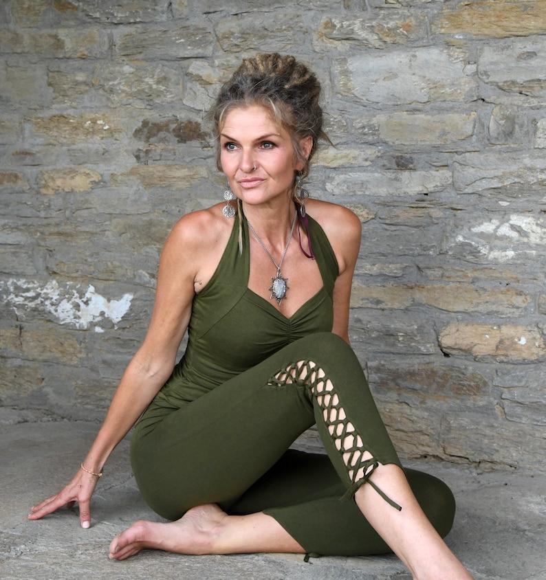Capri Leggings Yoga Wear for Her Festival Pants Tribal image 0