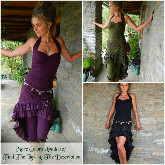 Dark clothes Festival Gypsy Mullet wear Plum Low clothing dresses Sexy women's Gown style Chic Funky High Steampunk dress purple 7qgxwp7Z