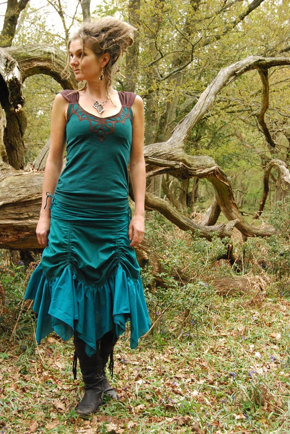 Gypsy for for clothing skirts Turquoise women Blue Layered clothes fashion Steampunk Funky Teal style wear Festival her skirt Goa vxIqR4qS
