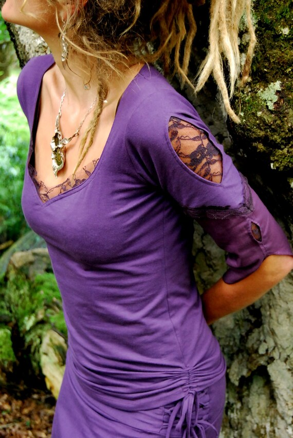 Purple shirt for women Goa Fantasy Festival fashion clothing Her chic clothes Tribal wear Hippie top fairy Gypsy Funky blouse style xwxAq0tv
