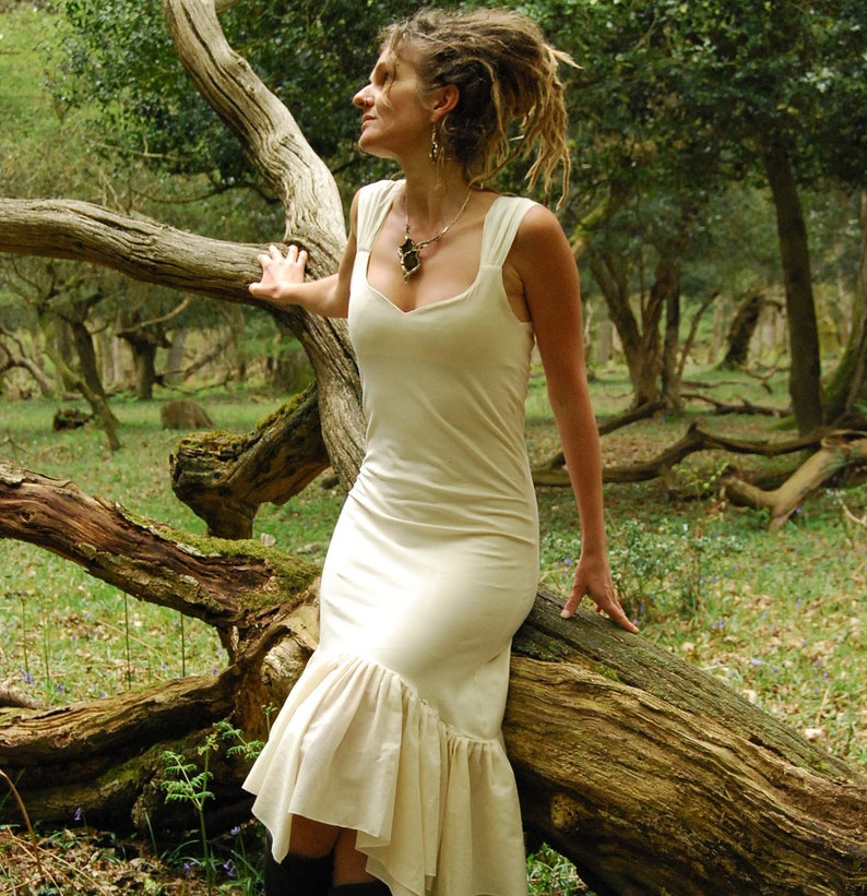 Rustic wedding dress Fairy bridal clothing Cream dresses image 0
