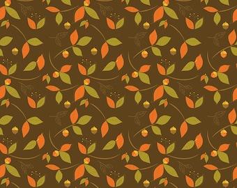 Riley Blake Fabric Half yd Thanks Main Olive Give Thanks Fall Quilting Fabric,Premium Cotton,Precut Fabric,QuarterYard Fabric by Yard