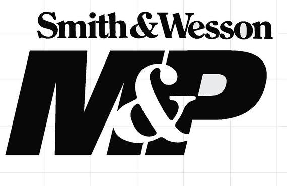 Notebook Car Vinyl Color: White CMI322 Smith and Wesson Guns Logo Truck Vinyl Decal Sticker