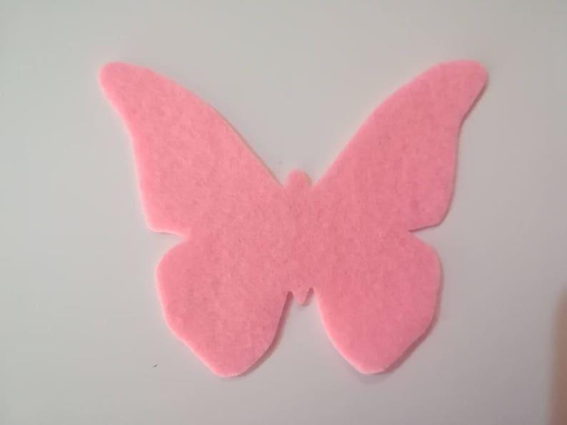 Sagome Di Farfalle Di Feltro Spessore 1 Mm Fustellati In Etsy