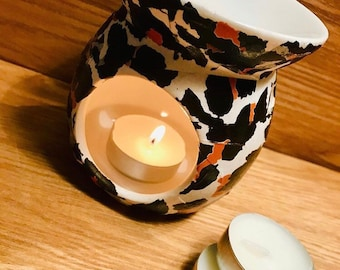 Paint Your Own Ceramic Keepsake Witchs Hat Votive Candle Holder and Battery Operated Tea Light Set