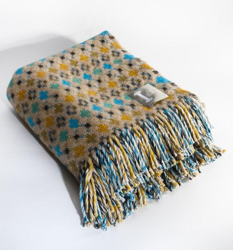 Pier Fair Isle Design Loom /& Bobbin UK Made Wool Blanket Welsh Tapestry