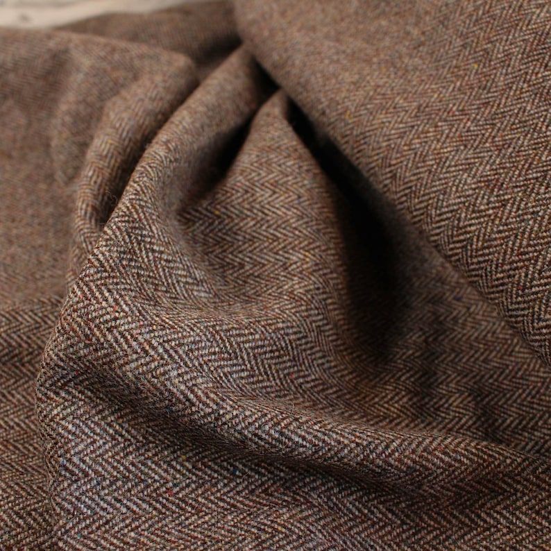 1930s Men's Fashion Guide- What Did Men Wear? Brown Harris Fleck 100% Wool Tweed Fabric UK Made Cloth **Sold By The Half-Metre** Not Harris - Beautiful British Made Wool Fabric! $17.81 AT vintagedancer.com