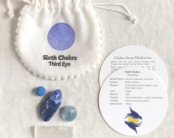Third Eye Chakra Stones with Guided Meditation