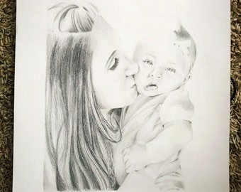 Custom Hand Drawn Two Person Portrait