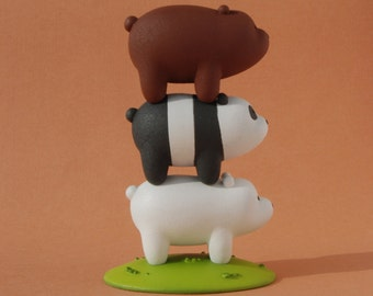 We bare bears | Bears Stack | Grizzly Panda Ice Bear | figure We bare bears