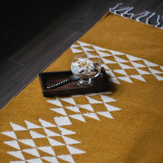 Sahara Handmade Flatwoven Modern Kilim Rug Wool