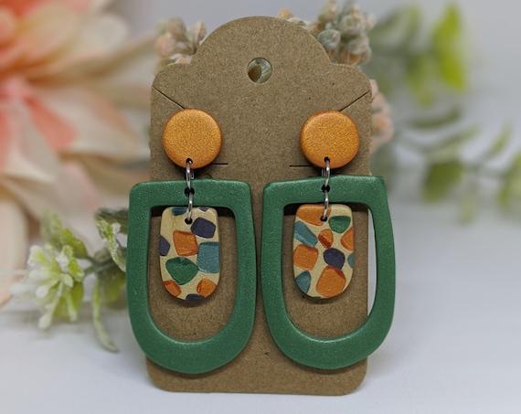 OOAK Terrazzo Drop Earrings