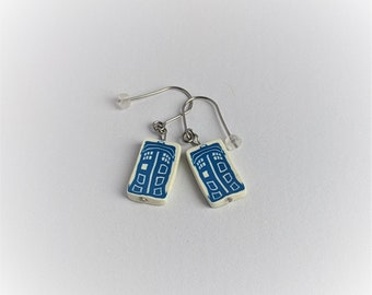 Handcrafted | Polymer Clay Jewelry | Whovian Earrings
