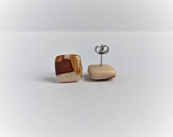 Handcrafted | Polymer Clay Jewelry | Malevich Inspired Studs