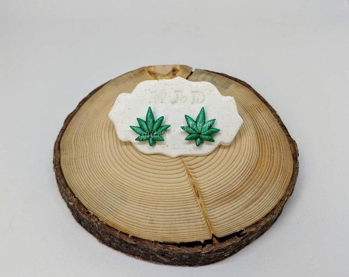 WEED PLANT Stud Earrings