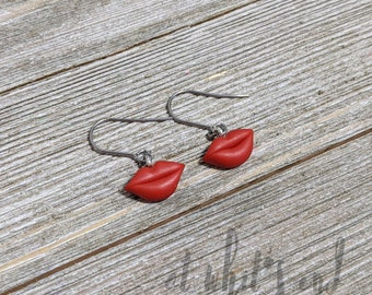 Handcrafted | Polymer Clay Jewelry | Gettin' Lippy Dangles