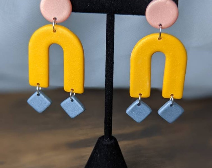 Pink + Yellow + Blue Dangles