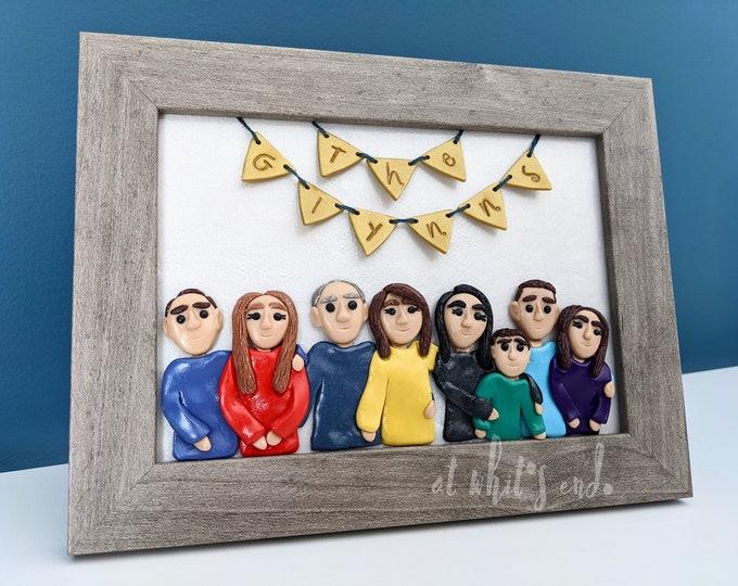 Custom Portrait 5x7 | Family Portrait | Pet Portrait | Polymer Clay Portrait