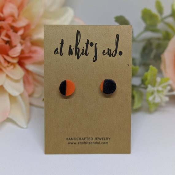 Geometric Halloween Studs - Circles