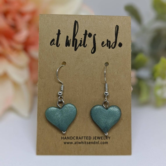 Green Heart Dangles