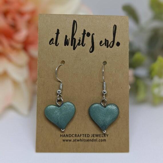 Green Heart Dangles