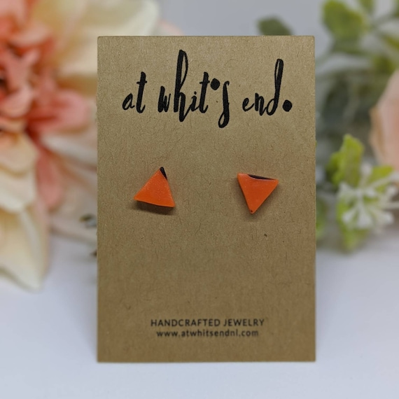 Geometric Halloween Studs - Triangles
