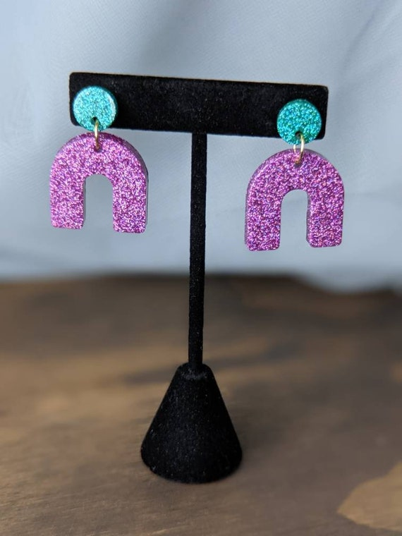 Holographic Statement Earrings