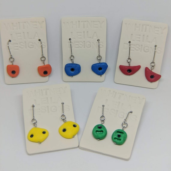 Rock Climbing Holds - Handmade Polymer Clay Earrings