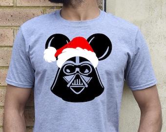 Men's/Boys Darth Vader Santa, Disney Christmas Shirt Christmas Disney Shirt Star Wars kids children toddler