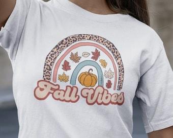 Women's Shirt, Fall Vibes, women's shirt, Disney Rainbow, Rainbow, Cheetah, matching shirts, group shirts, Plus size