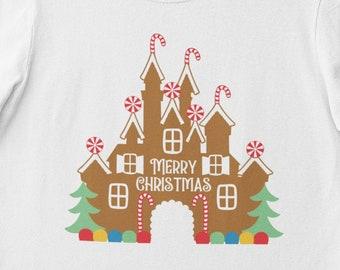 Unisex Shirt, Disney Christmas, Merry Christmas, Gingerbread House, doodle design, matching shirts, group shirts, Plus size
