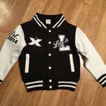 Personalized Youth/toddler/kids/Teen/Adult Varsity Jacket College Letterman jacket custom gift cheer leading dance bomber jacket sports