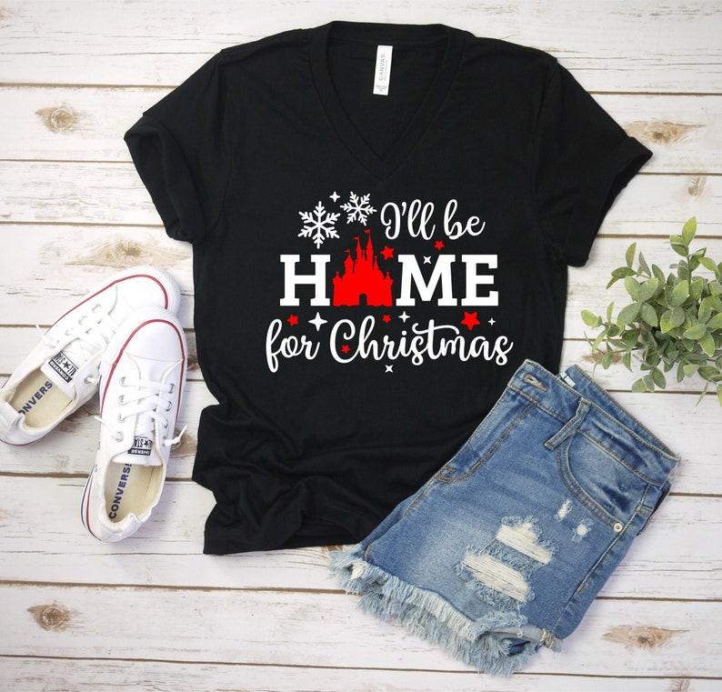 Christmas Disney shirt Women's shirt Home for Christmas image 0