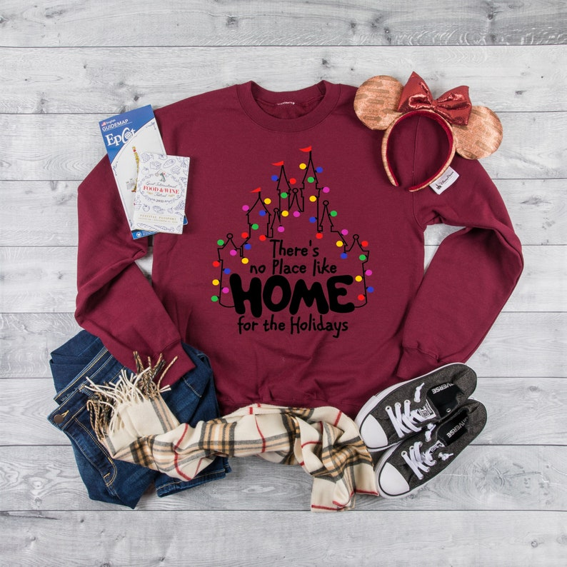 Christmas Disney Women's sweatshirt Home for the image 0