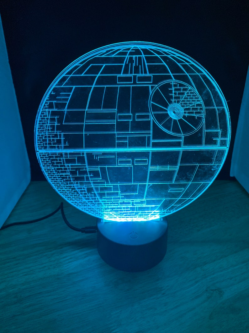 Star Wars Lamp Death Star LED Night Light Gift Acrylic image 0