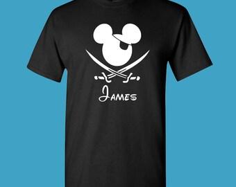 Mickey Pirate Shirt, Minnie Pirate Shirt, Disney Shirts, Pirates of the Caribbean, Disney Shirts, Matching Family, Custom, toddler