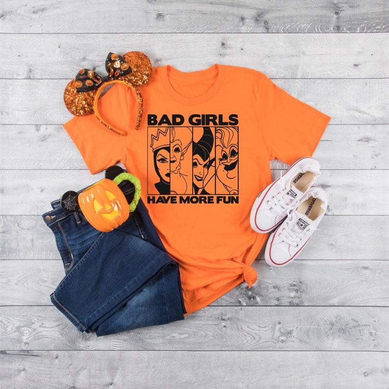 Disney Women's Halloween shirt bad girls have more fun image 0
