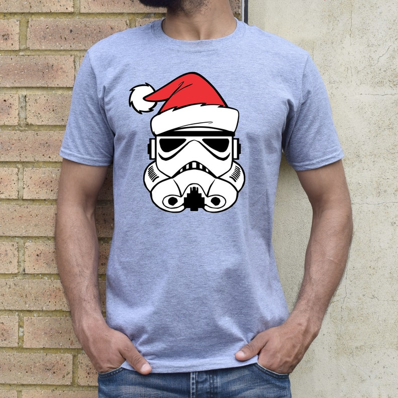 Men's/Boys Santa Storm Trooper Disney Christmas Shirt image 0