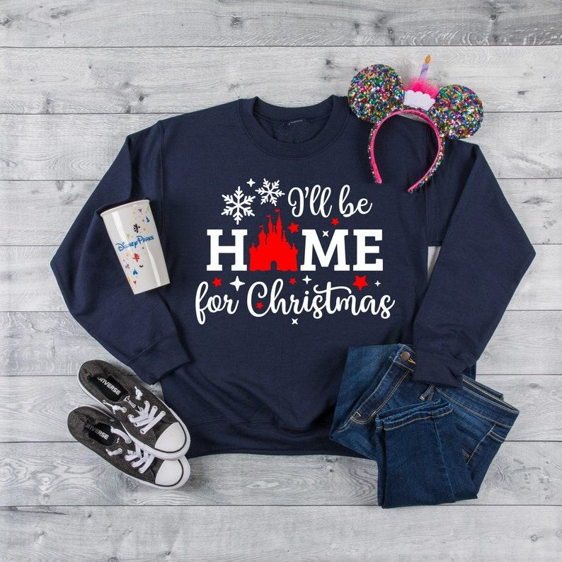 Christmas Disney Women's sweatshirt Home for Christmas image 0